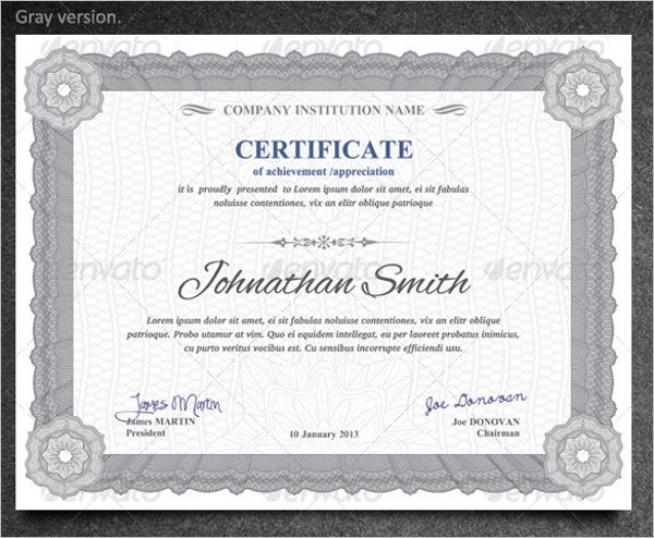 Best Training Certificate Template
