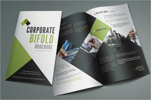 Bi Fold Brochure PSD Template