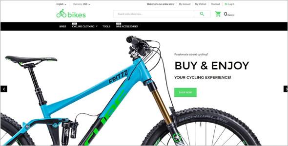 Bike Shop Magento Theme