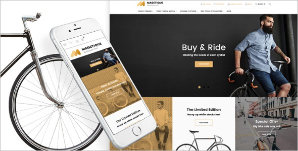 Bikes & Bike Equipment Magento Theme