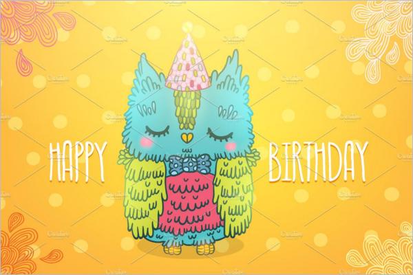 Bird Birthday Poster Template