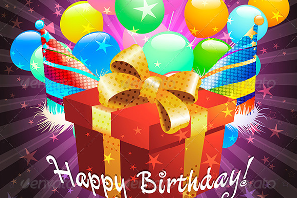 Birthday Greeting Card Design PSD