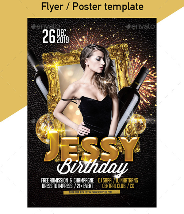 Birthday Invitation Poster Design
