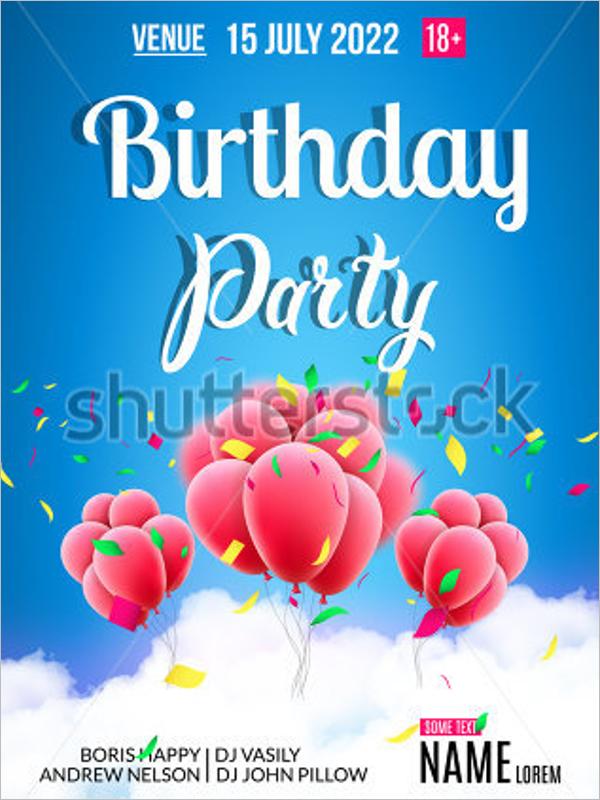 Birthday Poster Design Free Download