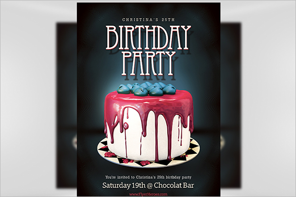 Birthday Poster PSD Design