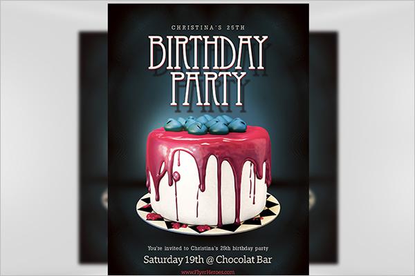 Birthday Poster PSD Design