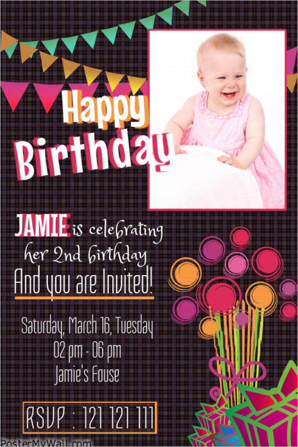 Birthday Poster Template PSD