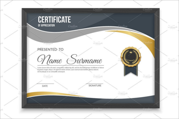 Black Frame Certificate Template