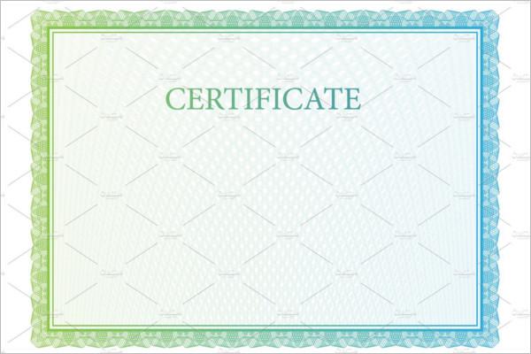 Blank Certificate Pattern  Template