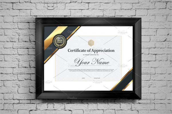 Blank Holder Certificate Template