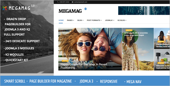 Blogging News Joomla Template