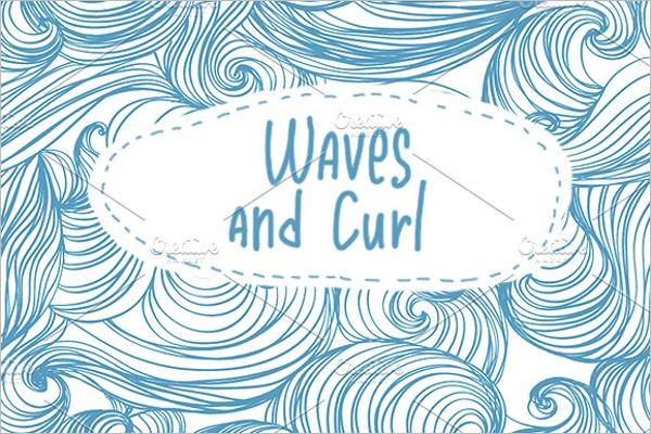 Blue Curl Seamless Patterns