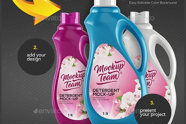 Blue Detergent Laundry Mock-Up