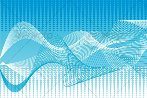 Blue Wave Vector Background