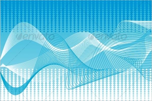 Blue Wave Vector Background