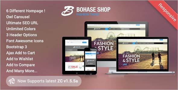 Bohase Responsive Portfolio Zen cart Theme
