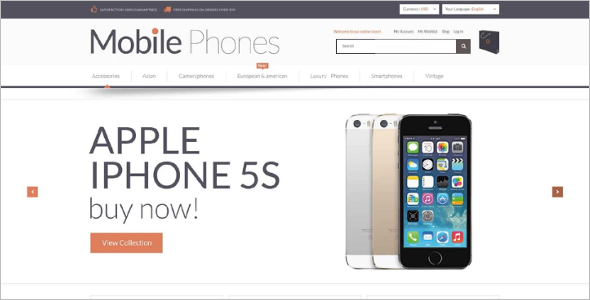 Bootstrap Mobile Store Magento Template
