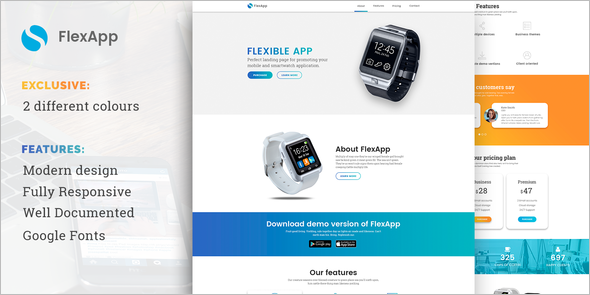 Bootstrap jQuery Landing Page Effect Template