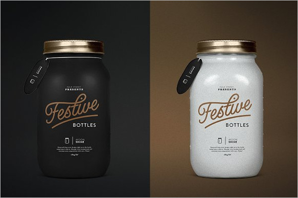 Bottle Mockup PSD