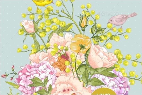 Bouquet mimosa Pattern