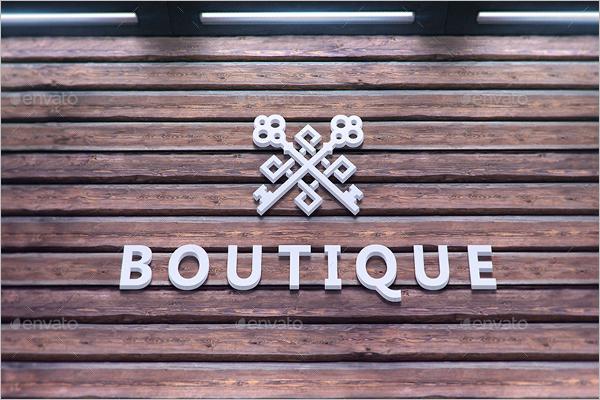 Boutique Wall Logo Mockup
