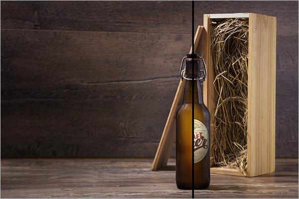 Brown Bottle Mockup Template