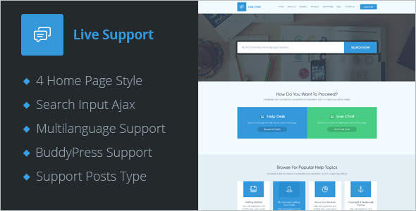 BuddyPress Help Desk WordPress Theme