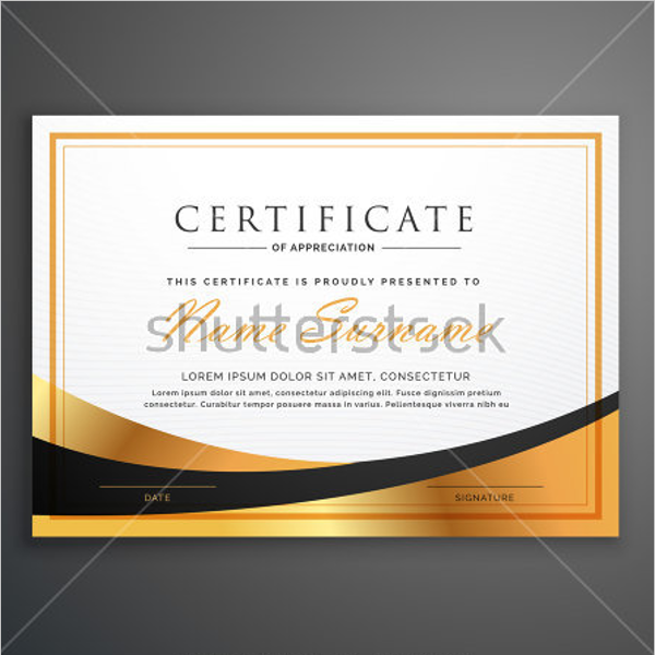 Business Award Certificate Template