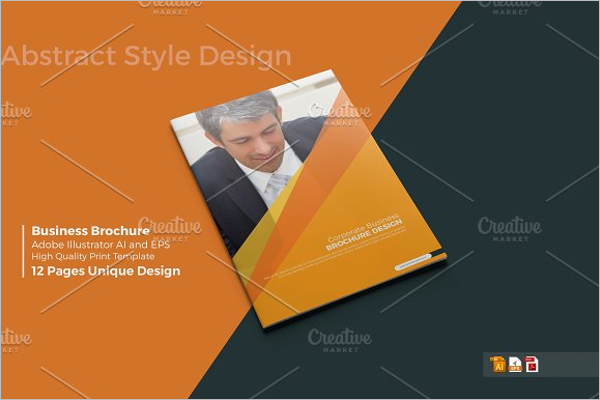 Business Brochure Mock Up Template