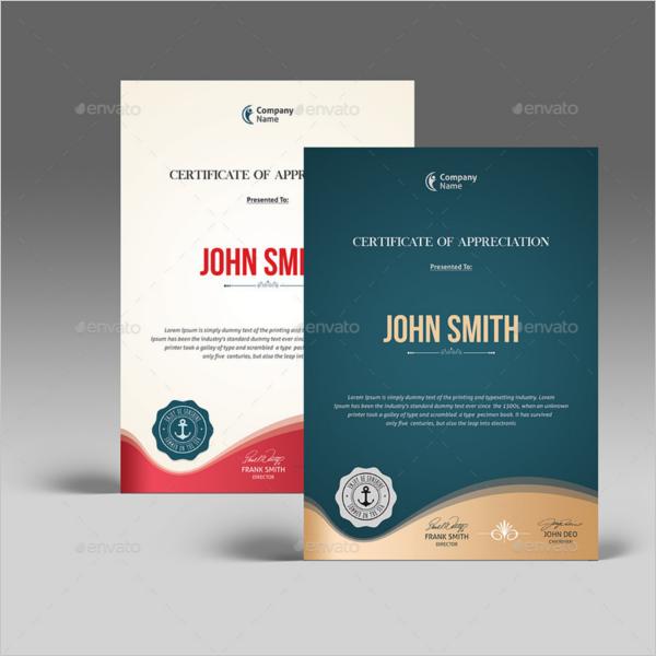 Business Certificate Design
