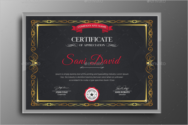 Business Certificate Templates Free Premium Download – Certificate Document Template