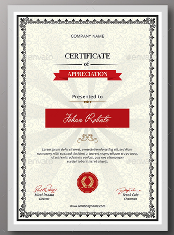 Business Certificate Form