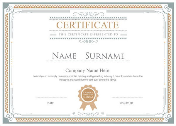 Blank certificate templates free premium creative template business certificate template accmission Choice Image