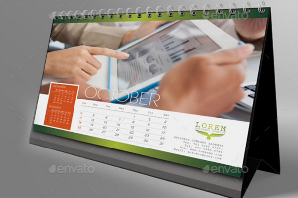 Business Desk calendar Mock Up Design