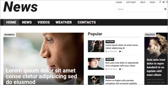 Business News Editorial Joomla Theme