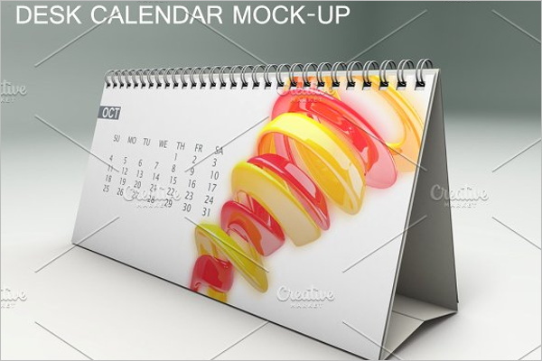 Calendar Desk Mock-up Template