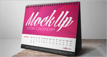 Desk Calendar Mockup Templates