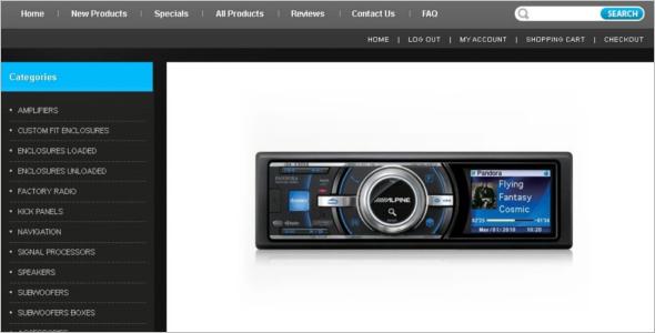 Car Audio ZenCart Theme
