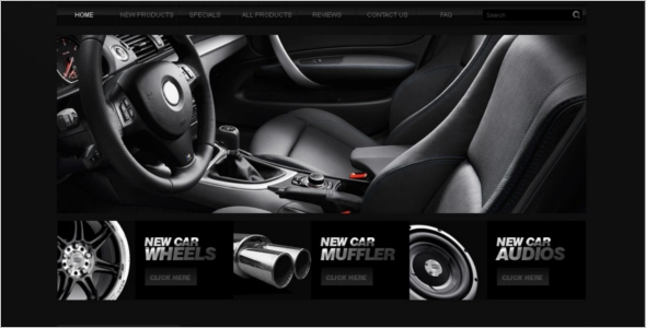 Car Auto Parts ZenCart Template