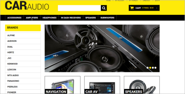 Car Music System Magento Theme