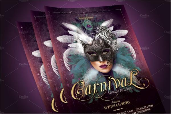 Carnival Mask Party Flyer