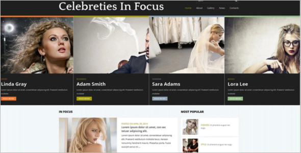 Celebrity Gossip News Joomla Template