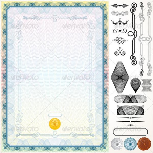 Certificate Design Elements Template