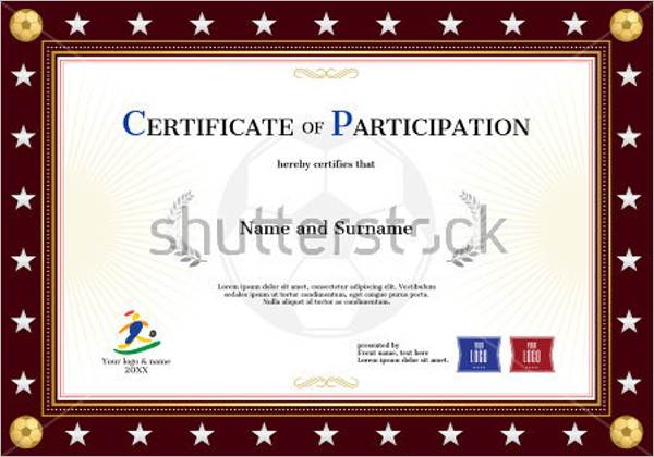 Certificate Of Participation Excel