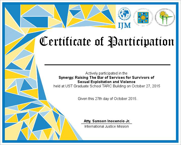 Participation certificate templates free premium for Template for certificate of participation in workshop