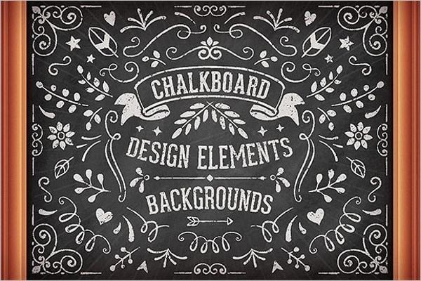 Chalkboard Floral Element