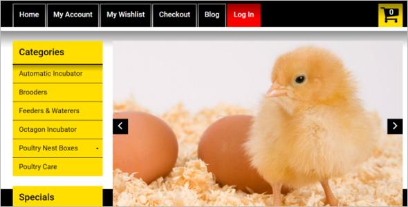 Chicken Farming Magento Theme