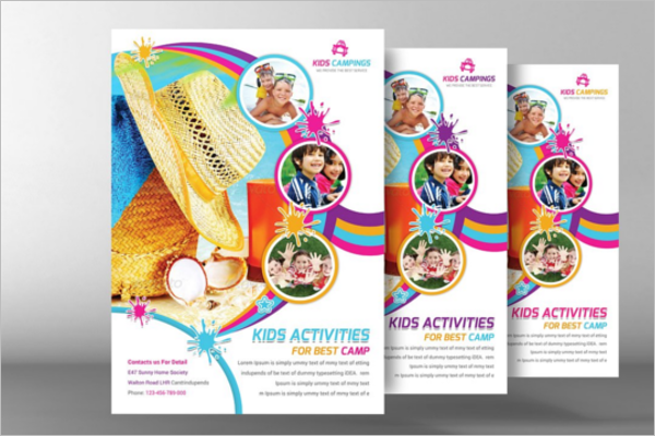 Child Summer Flyer Template