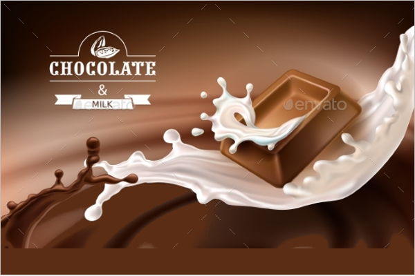 Chocolate Ad Poster Design