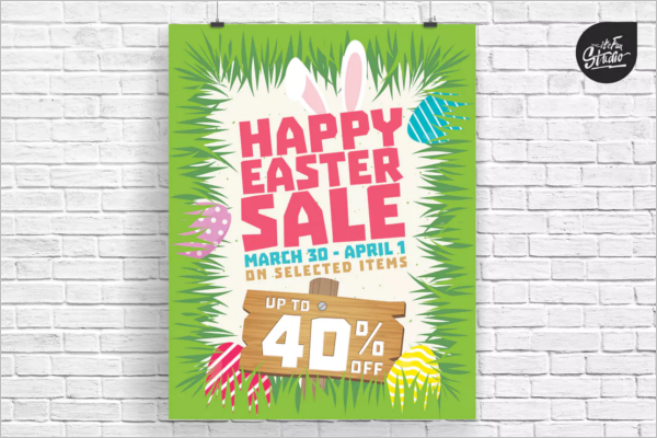 Christian Easter Poster Template